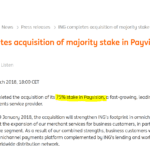 ING acquires Payvision