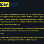 iPayTotal closed down and vanished