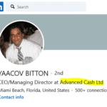 Yaacov Bitton CEO and managing partner advcash